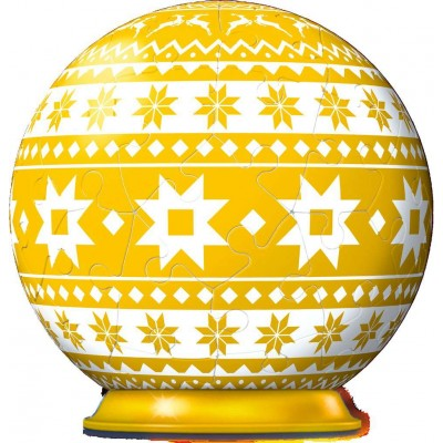 Ravensburger-11269 3D Puzzle-Ball - Winter Yellow