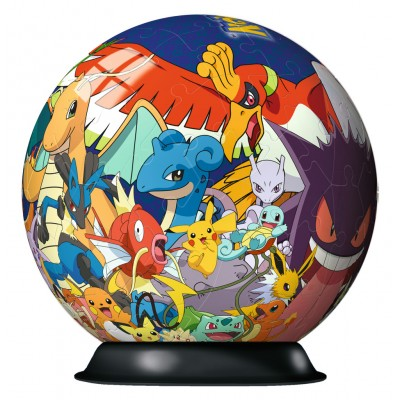 Ravensburger-11785 3D Puzzle-Ball - Pokemon