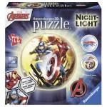 Ravensburger-11798 3D Puzzle mit LED - Avengers