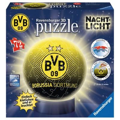 Ravensburger-11803 3D Puzzle mit LED - Borussia Dortmund