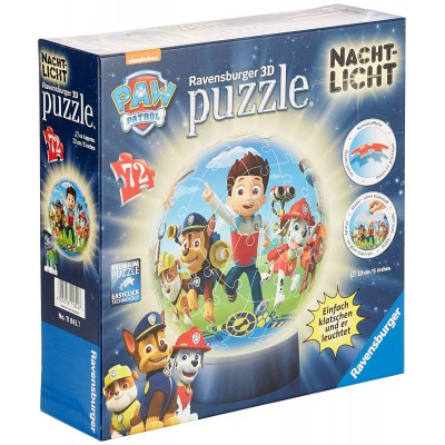 Ravensburger-11842 3D Puzzle mit LED - Paw Patrol