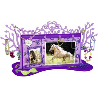Ravensburger-12068 3D Puzzle - Girly Girls Edition - Schmuckbäumchen Pferde