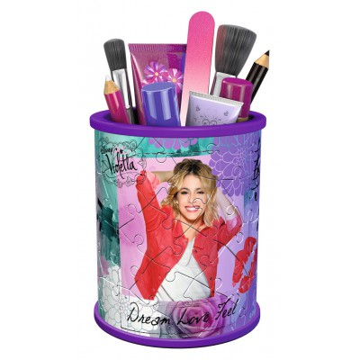 Ravensburger-12093 3D Puzzle - Girly Girls Edition - Utensilo Violetta