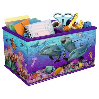 Ravensburger-12115 3D Puzzle - Aufbewahrungsbox - Unterwasserwelt
