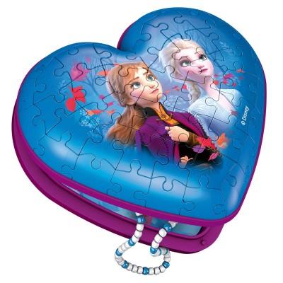 Ravensburger-12120 3D Puzzle - Herzschatulle Frozen II