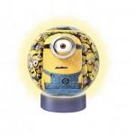 Ravensburger-12168 3D Puzzle-Ball Nachtlicht - Minions