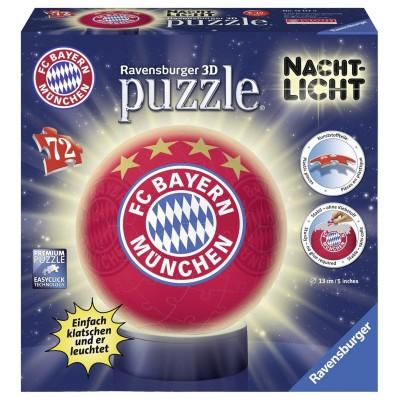 Ravensburger-12177 3D Puzzle - Nachtlicht - FC Bayern München