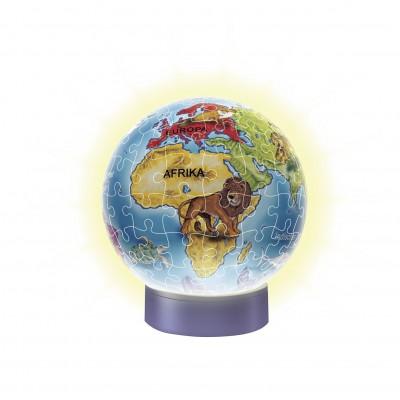 Ravensburger-12184 3D Puzzle - Nachtlicht - Kindererde