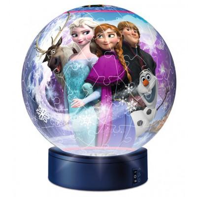 Ravensburger-12190 Frozen - Die Eiskönigin: 3D Puzzle-Ball mit Led