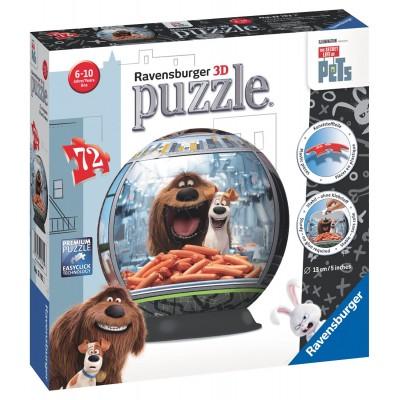 Ravensburger-12192 3D Puzzle - Pets