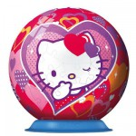 Ravensburger-12213 Puzzle 108 Teile Puzzleball - Hello Kitty
