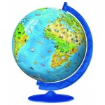 Ravensburger-12337 3D Puzzle - Globe in deutscher Sprache