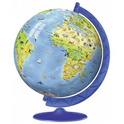 Ravensburger-12342 3D Puzzle - Globus auf Englisch