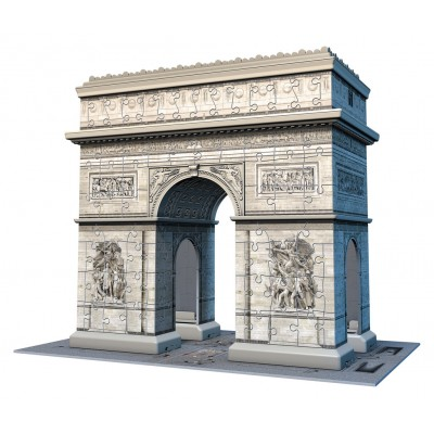 Ravensburger-12514 3D Puzzle - Triumphbogen Paris