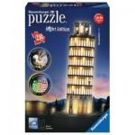 Ravensburger-12515 3D Puzzle mit LED - Schiefer Turm von Pisa