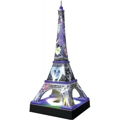 Ravensburger-12520 3D Puzzle mit LED - Disney Eiffelturm