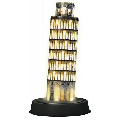 Ravensburger-12521 3D Puzzle mit LED - Schiefer Turm von Pisa