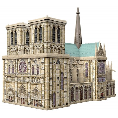 Ravensburger-12523 3D Puzzle - Notre Dame, Frankreich