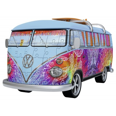 Ravensburger-12527 3D Puzzle - Volkswagen T1 Indian Summer