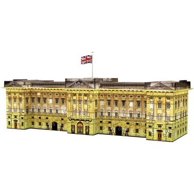 Ravensburger-12529 3D Puzzle - Buckingham Palace bei Nacht