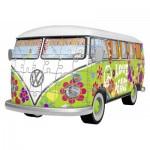 Ravensburger-12532 3 Puzzles - Volkswagen T1 - Hippie Style