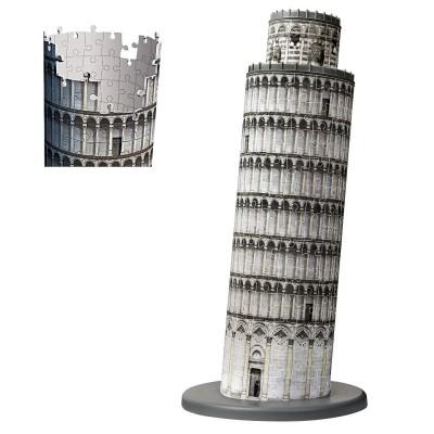 Ravensburger-12557 3D Puzzle - Schiefer Turm von Pisa
