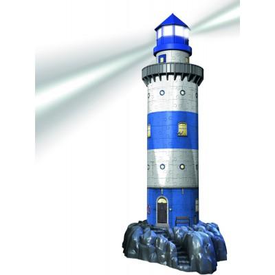 Ravensburger-12577 3D Puzzle mit LED-Beleuchtung - Leuchtturm bei Nacht