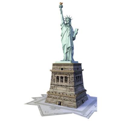 Ravensburger-12584 3D Puzzle - New York: Freiheitsstatue