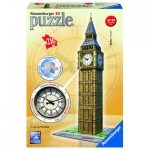 Ravensburger-12586 3D Puzzle - Big Ben mit Uhr