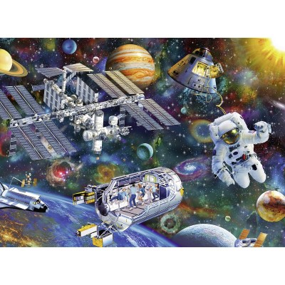 Puzzle  Ravensburger-12692 XXL Teile - Internationale Raumstation
