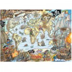 Puzzle  Ravensburger-12802 Piratenkarte