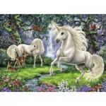 Puzzle  Ravensburger-12838 XXL Teile - Geheimnisvolle Einhörner
