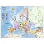 Puzzle  Ravensburger-12841 XXL Teile - Karte von Europa in Französisch