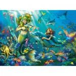 Puzzle  Ravensburger-12872 XXL Teile mit Glitzer - Disney Princess