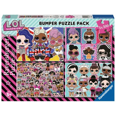 Ravensburger-12880 4 Puzzles - LOL Surprise