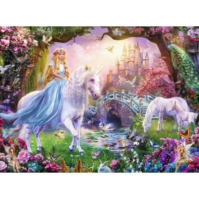 Puzzle  Ravensburger-12887 XXL Teile - Magische Einhörner