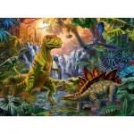 Puzzle  Ravensburger-12888 XXL Teile - Die Dinosaurier-Oase