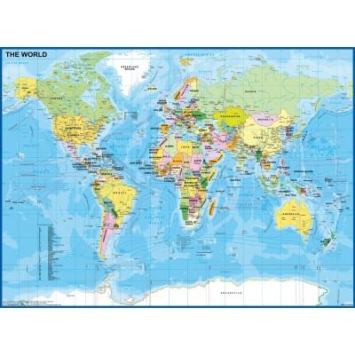 Puzzle  Ravensburger-12890 XXL Teile - Kinderweltkarte
