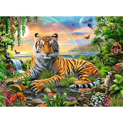 Puzzle Ravensburger-12896 XXL Teile - König des Dschungels
