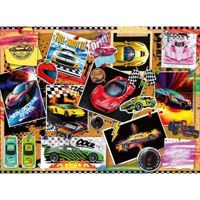 Puzzle  Ravensburger-12899 XXL Teile - Rennwagen Pinnwand