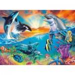 Puzzle  Ravensburger-12900 XXL Teile - Ozeanbewohner