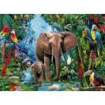 Puzzle  Ravensburger-12901 XXL Teile - Dschungelelefanten
