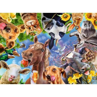 Puzzle  Ravensburger-12902 XXL Teile - Funny Farm Animals