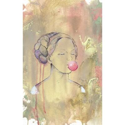 Puzzle  Ravensburger-12966 Relax - Bubble Gum Lady
