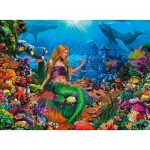 Puzzle  Ravensburger-12987 XXL Teile - Die Meereskönigin
