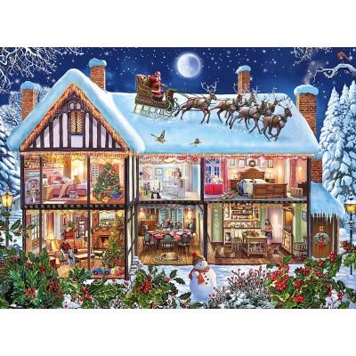 Puzzle  Ravensburger-12996 XXL Teile - Weihnachten zu Hause