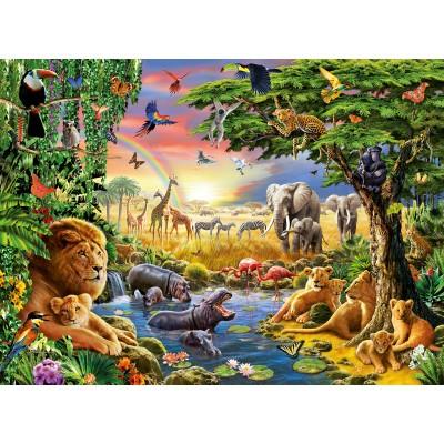 Puzzle  Ravensburger-13073 Geheimnisvoller Wald