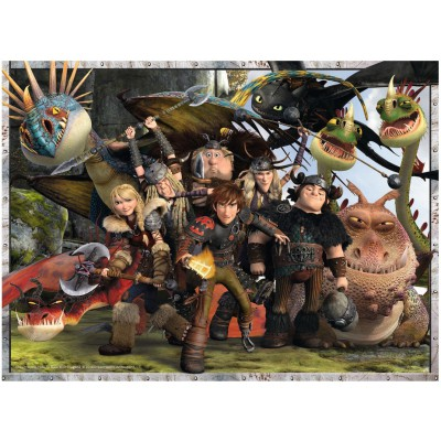 Puzzle  Ravensburger-13198 Dragons 2 - Treue Freunde