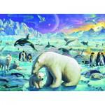 Puzzle  Ravensburger-13203 XXL Teile - Treffen der Polartiere