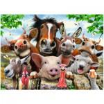 Puzzle  Ravensburger-13207 XXL Teile - Farmyard Selfies!